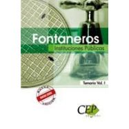 FONTANEROS. INSTITUCIONES PUBLICAS- Temario Volumen 1