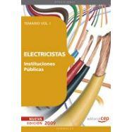 ELECTRICISTAS. Insituciones Públicas. Temario- Volumen 1
