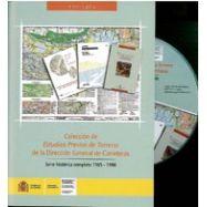 """COLECCION DE """"ESTUDIOS PREVIOS DEL TERRENO"""" DE LA DGT. Serie Histórica Completa 1965-1998 (DVD)"""