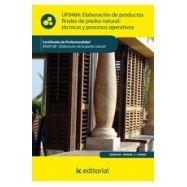 ELABORACION DE PRODUCTOS FINALES DE PIEDRA NATURAL: Técnicas y Procesos Operativos