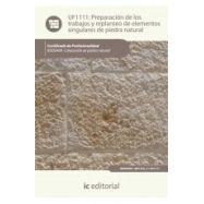 PREPARACION DE LOS TRABAJOS Y REPLANTEO DE ELEMENTOS SINGULARES DE PIEDRA NATURAL