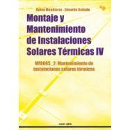 MONTAJE Y MANTENIMIENTO DE INSTALACIONES SOLARES TÉRMICAS IV