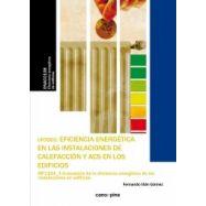 EFICIENCIA ENERGETICA EN LAS INSTALACIONES DE CALEFACCION  Y ACS EN LOS EDIFICIOS