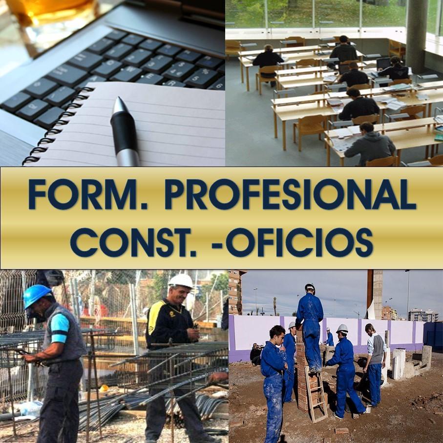 Formación Profesional: Oficios en construccion, edificación y obras